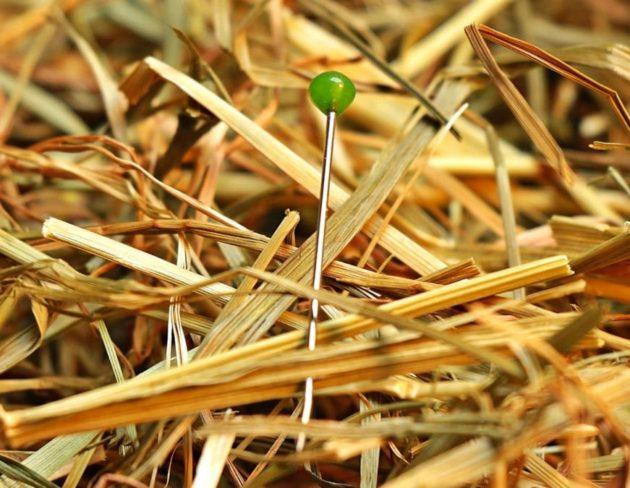 потеря - иголка в сене