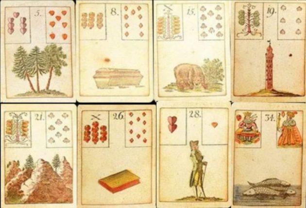 гадальный расклад Таро с символами и нумерацией